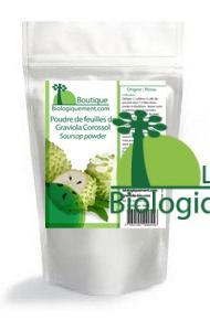 Acheter de la poudre de feuille de graviola anti-cancer naturel sur la boutique Biologiquement.com